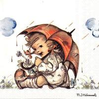 Салф. Девочка под зонтиком