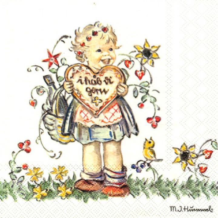 Салф. Девочка с валентинкой