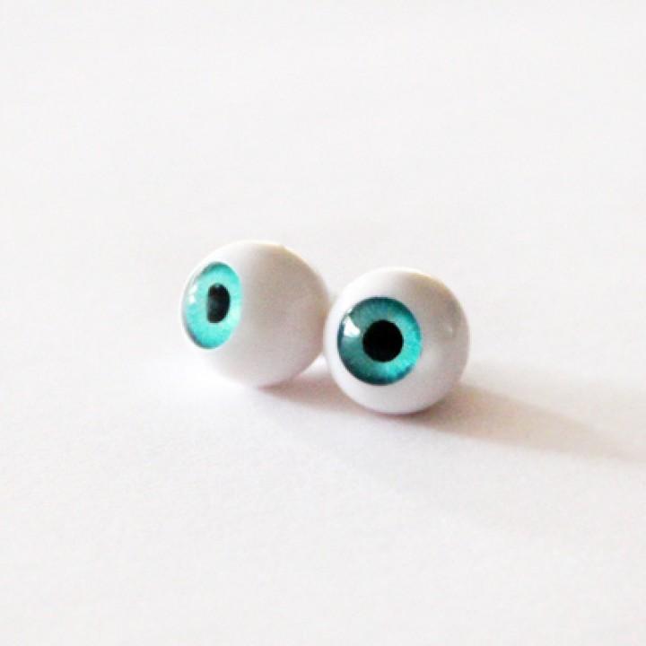 Глазки для кукол голубые 8 мм.