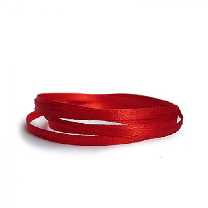 Атласная лента, красная, 6 мм.х20м.