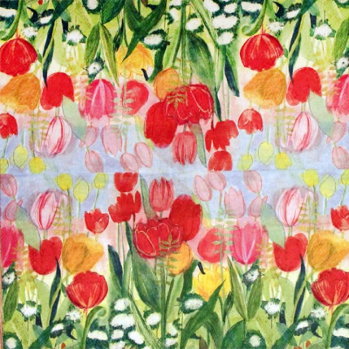 Акварельные тюльпаны (мини)