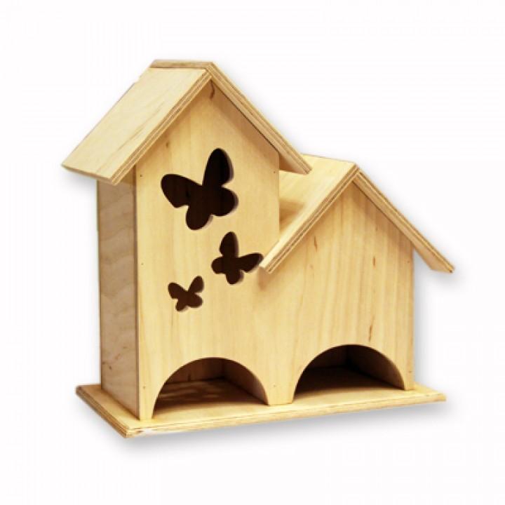 """Двойной чайный домик """"Три бабочки"""""""