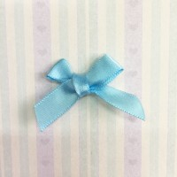 Атласный бантик, голубой