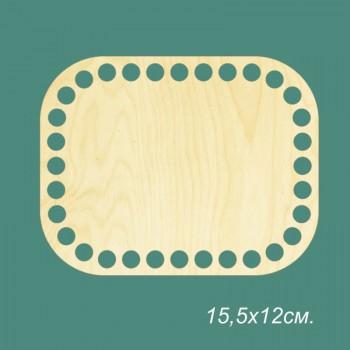 Основа для корзинки, прямоугольник с закругленными углами, 15х19,5см.