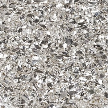 Стеклянная крошка с хромовым напылением серебро, 2-4мм.