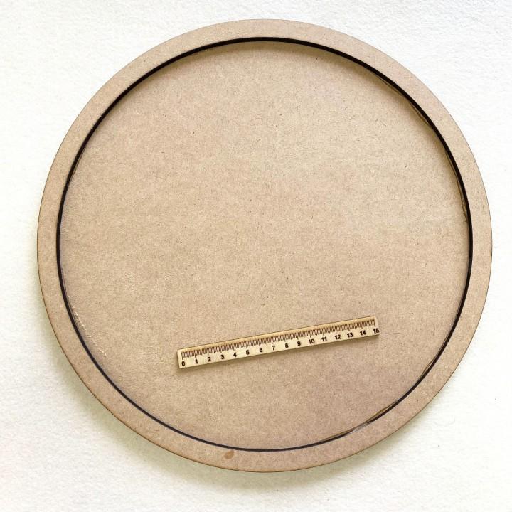 Артборд из МДФ круг с бортами, Д 36 см.