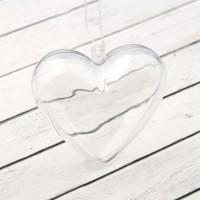 """Пластиковая основа """"Сердце"""" 6,5 см."""