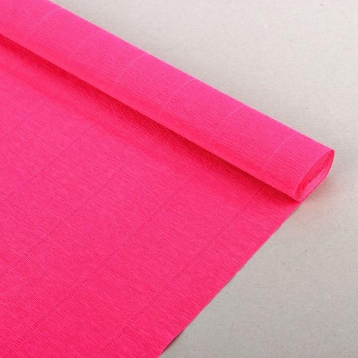 Крепбумага из Италии, ярко-розовая