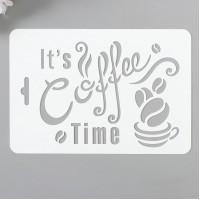 """Трафарет """"Кофе"""" 10,5х15см."""