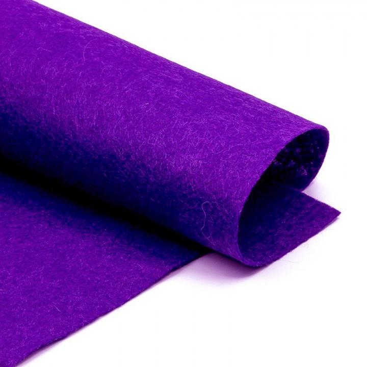 Фетр, тёмно-фиолетовый, 2,5мм.