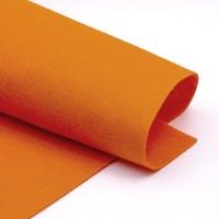 Фетр, оранжевый, 2,5мм.