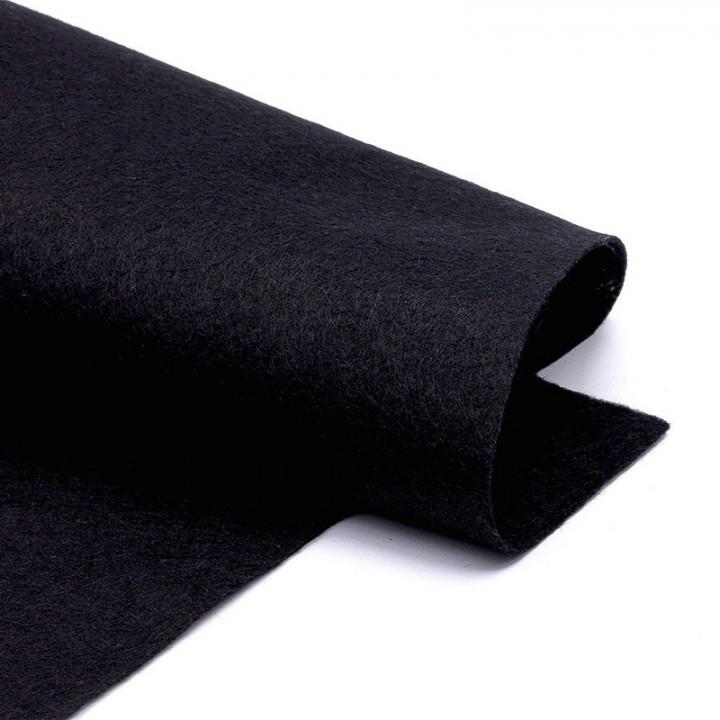 Фетр, чёрный, 2,5мм.