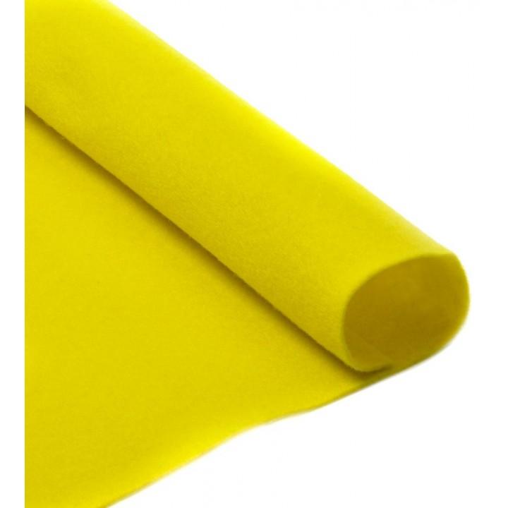 Фетр, лимон, 2,5мм.