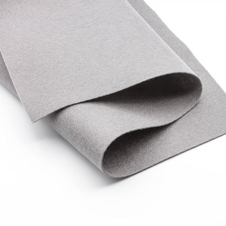 Фетр, серый, 1,5мм.