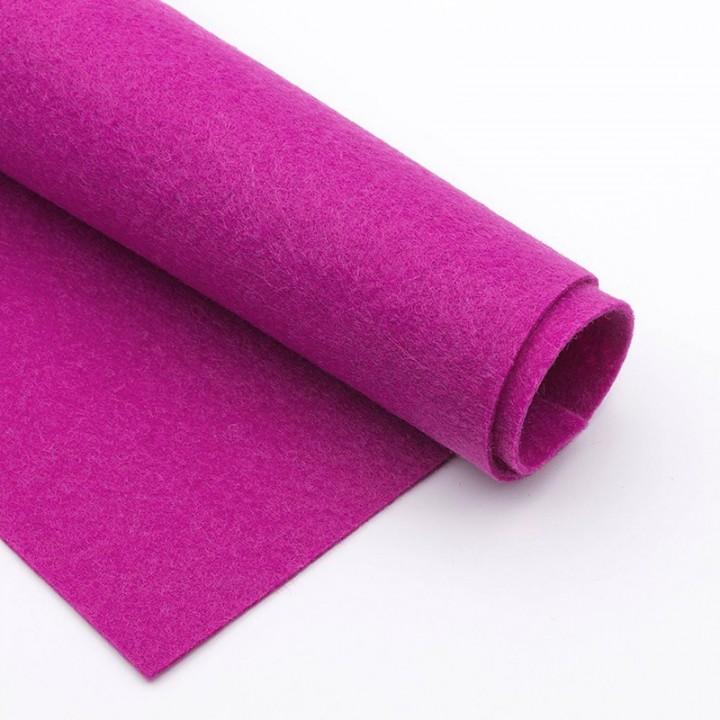 Фетр, темно-розовый, 2,5мм.