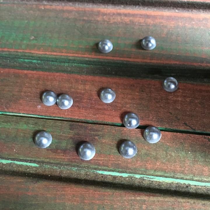Полужемчуг, серо-голубой 5мм. 1гр.